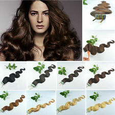 "Remy AAA 50g 60g 70g Straight / Wavy 12"" 24"" Tape In 100% Human Hair Extensions"
