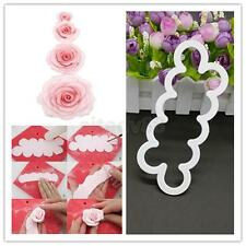 3D Rose Flower Mold Mould Fondant Cutter Cake Cookie Chocolate Decor Bake Tool