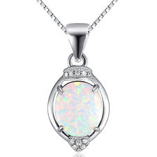 moonstone pendant white fire opal necklace pure 925 sterling silver necklace new