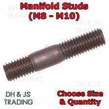 Brass Manifold Studs Metric Exhaust All Sizes M8 - M10 Inlet Exhaust