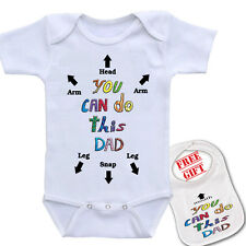 You Can do this Dad printed baby onesie bodysuit, unisex, High Quality, Free Bib