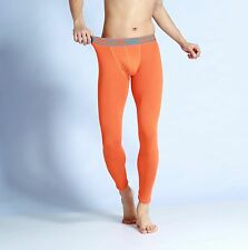 GMW NEW Men's sexy cotton Warm pants Long johns Low Rise legging Orange