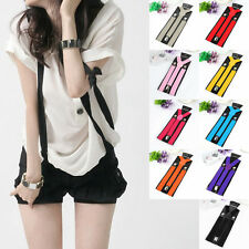 Unisex Mens Womens Adjustable Braces Elastic Y-Shape Clip-on Suspenders New
