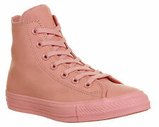 Converse All Star Hi Leather BABY PINK EXCLUSIVE Trainers Shoes
