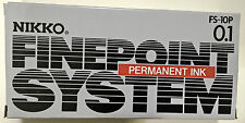 NIKKO PERMANENT INK FINE POINT PENS IN BLACK PACK OF 12 with free gift
