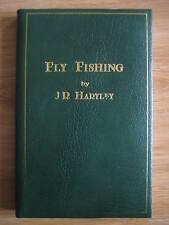 Rare FLY FISHING by J R Hartley LEATHER BOUND Book Trout Salmon Michael Russell