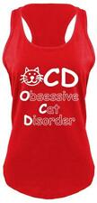 OCD Obsessive Cat Disorder Funny Cat Lover Ladies Tank Top Animals Cute Gift Z6
