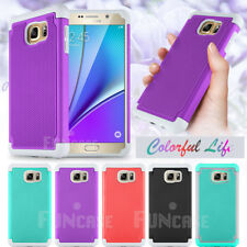 Rugged Rubber Matte Hard Shell Durable Protective Case Cover For Samsung Note 5