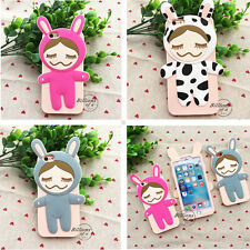 Cute 3D Silicone Doll Soft Cases Skins Covers for Iphone Apple 5S 6S 6S Plus Hot