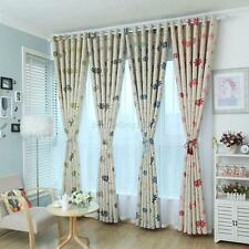 1x Floral Shade Cloth/Tulle Drape Curtain Bedroom Blackout Lining Valance B64