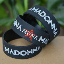 "25pcs/lot MADONNA 1"" Wide Filled in Colour Silicone Wristband Bracelet"
