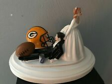 Green Bay Packers Cake Topper Bride Groom Wedding day NFL Funny Football Theme
