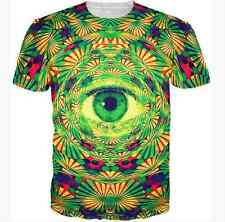 2016 Women Men's Funny Psychedelic Eye 3D Print Casual T-Shirt short sleeve HB75