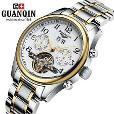 Mens Automatic Mechanical Analog Watch GUANQIN Resistant Sport Waterproof C9G0
