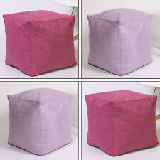 Faux Suede Leather Foot Stool Rest Pouffe Cube Box Seat Bean Bag COVER ONLY