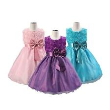 Flower Kids Girls Princess Dress For Party Pageant Wedding Bridesmaid Dresses