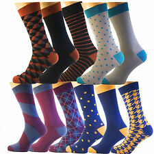 3 ,6,12 Pairs Men's Cotton Rich Funky Designer Suit Dress Socks Argyle  7-11