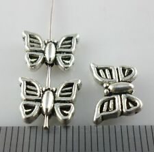 10/40/300pcs Tibetan Silver Butterfly Spacer Beads 8.5x11mm fit Bracelet Beading