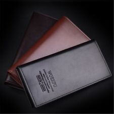 Men's Long Casual Leather Dress Wallet Bifold Purse Pockets Card Clutch Cente
