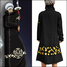 Law Costume Cosplay Anime One Piece Trafalgar Black Clothing Cloak Cape Cos New