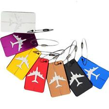 Aluminium Plane Travel Luggage Baggage Tag Suitcase Identity Address Name Label