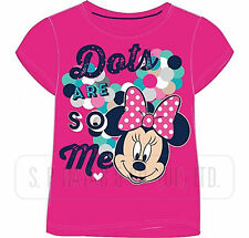 Girls Official Minnie Mouse Short Sleeve T-Shirt