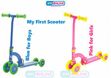 Ozbozz MY FIRST SCOOTER Kids Push Scooter Folding Convert 4 to 2 Wheels Girs/Boy