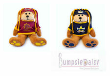 NRL Licensed Fanatic Beanie Kids Bear Brisbane Broncos / Nth Queensland Cowboys