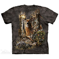THE MOUNTAIN FIND 9 DEER DOE BUCK ANTLERS ELK WILD ANIMALS FOREST T SHIRT S-5XL