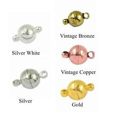 10Sets Two Parts Round Magnetic Clasps Jewelry Making Findings