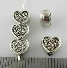 30/90pcs Tibetan Silver Heart Loose Spacer Beads Jewelry Findings 7x6.5mm