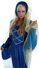 LADIES BLUE TUDOR QUEEN GOWN MEDIEVAL DRESS COSTUME OUTFIT NEW 8-10 & 16-18
