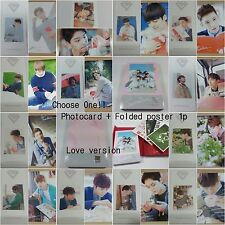 SEVENTEEN 1st album First Love&Letter CD selected photocard folded poster KPOP b