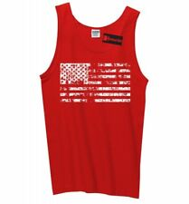 Distressed American Flag Mens Tank Top American Pride USA July 4th Sleeveless Z3