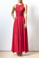 NEW Women's Evening Gown Long Maxi Dress Lace Black White Red Navy MISSKADIA