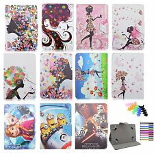 """Frozen Minions The Star Wars for Universal 7"""" 7inch PU Leather Case Stand Cover"""