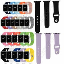 3pcs Silicone Sport Strap Watch Band Bracelet For Apple Watch 38mm/42mm S & L