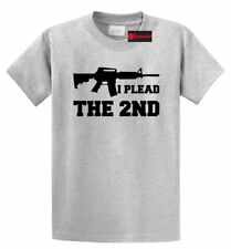 I Plead The 2nd T Shirt Gun Rights Second Amendment AR15 Tee S-5XL 16Cols