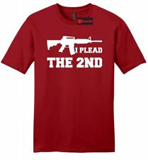 I Plead The 2nd Mens Soft T Shirt Gun Rights Second Amendment AR15 Tee Z2