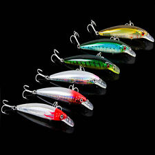 1pcs Fishing Lures Bass Crankbaits Sharp Hook Minnow 3D Eyes Crank Baits Tackle