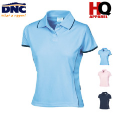 LADIES PIPING POLO COOL BREATHE WORK WEAR  5225 DNC
