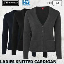 LADIES KNITTED FORMAL CARDIGAN WOMEN CORPORATE LONG SLEEVE SWEATER SIZE 8-24 NEW