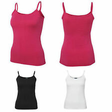 2X LADIES SUMMER WEEKEND SPAGHETTI STRAP SINGLET SPORTS TRAINING TOP SIZE 8-18