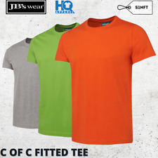 2X MENS COLORED FITTED TEE CREW NECK COTTON T-SHIRT SIZE 12 14 X L M XL 2XL 3XL