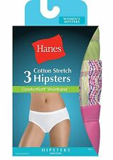ET41AS Hanes Women's Cotton Stretch Hipster Panties with ComfortSoft Waistband 3