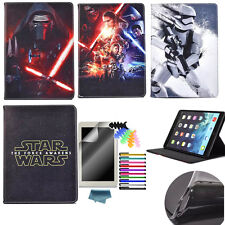 Star Wars Cartoon Case for Samsung Galaxy iPad Tablets PU Leather Stand Cover
