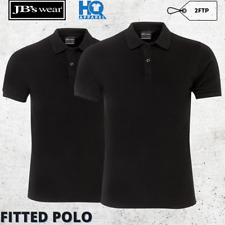 Mens Fitted Polo Work Wear Casual Collar Trim Modern Fit Shirt S M L XL 2XL 3XL