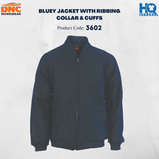 Bluey Jacket with Ribbing Collar & Cuffs Brand New Clothes Work Wear 3602 dnc