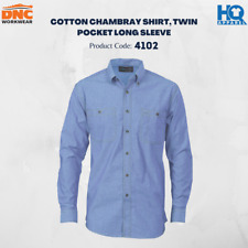Cotton Chambray Shirt , Twin Pocket - Long Sleeve Brand New Clothes 4102 dnc