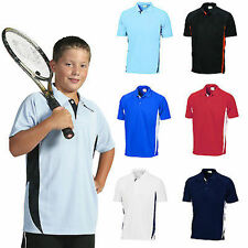 Kids Side Panel Polo Shirt Cool Breathe New Clothes Children Unisex 5228 dnc